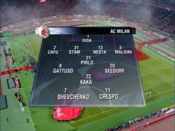 Архив / Лига Чемпионов 2004-05 / Финал / Ливерпуль (Англия) - Милан